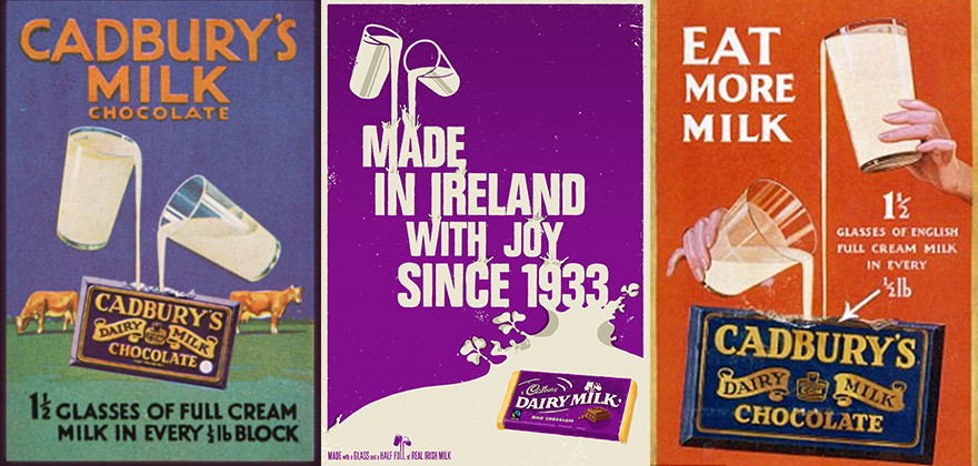 cadburys adverts Cadbury's milk tray brand of boxed chocolates was first developed in 1915 cadbury's roses line began in the 1930s to compete with the market of 'twist wrap' assortments.