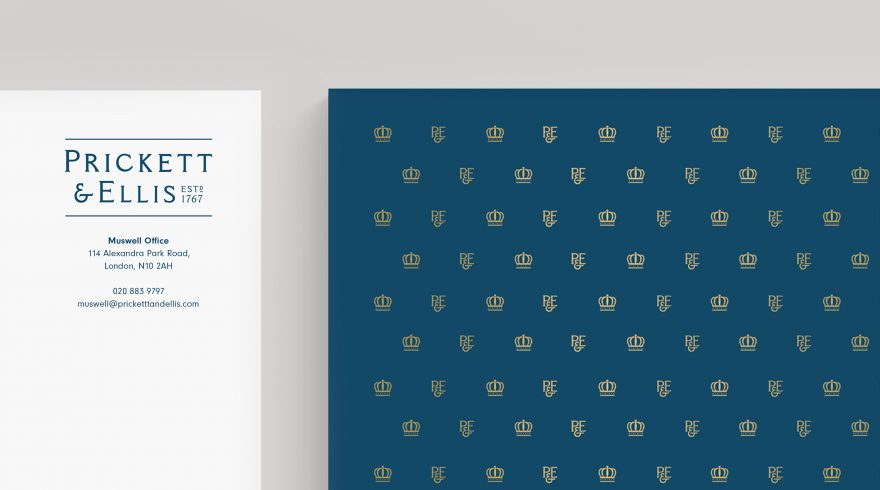 Prickett & Ellis Brand identity