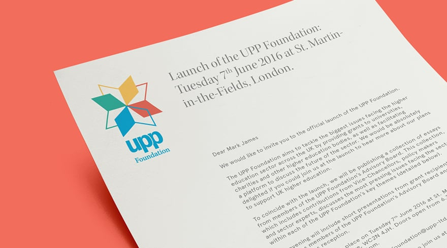 UPP Foundation Brand Identity Invitation